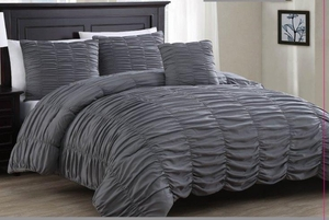 Slumber Comfort Bed Ensemble Charcoal