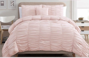 Slumber Comfort Bed Ensemble Pink