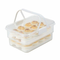 Snap Lock Collapsible Deviled Egg Carrier