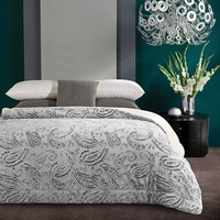 Snow Paisley Luxury Textured Sherpa Blanket