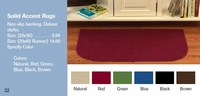 Solid Accent Rugs