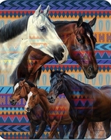 Southwest Horse Luxury Blanket