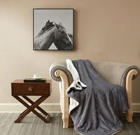 Stardust Gray Metallic Sherpa Throw