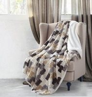 Brick Chevron Sherpa Throw