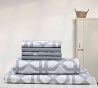 Super Soft Trellis Sheet Set Gray & White
