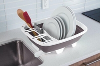 Swivel Spout Collapsible Dish Drainer
