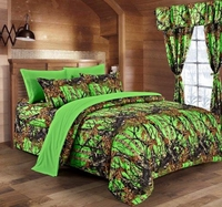 The Woods Biohazard Green Curtains