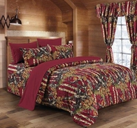 The Woods Burgundy Curtains