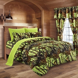 The Woods Lime Green Curtains