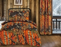 The Woods Orange 4-Piece Toddler Comforter Set