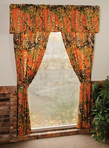 The Woods Orange Curtains