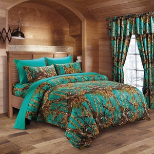 The Woods Teal Curtains