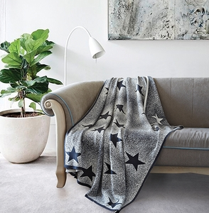 Twinke Star Luxury Cotton Throw Blanket