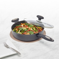 Ultimate Cook Saute Pan with Glass Lid