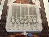 """Victorian Rose Curtain Tier 54"""" X 24"""" Natural"""