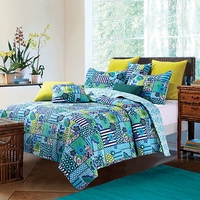 Enchanted Teals Full/Queen Quilt Set