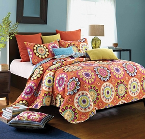 Virah Bella Quilt Collection Suri Orange