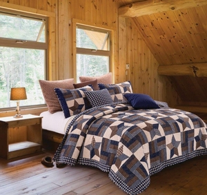 Virah Bella Quilt Collection Woodland Blue