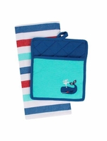 Whales Embroidered Gift Set