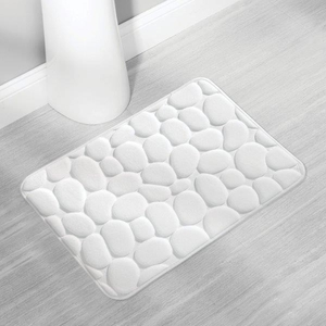White Pebble Memory Foam Bath Mat