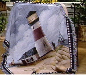 Windy Shores Tapestry Throw Blanket