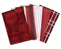 Wine Glasses 5 Piece Kitchen Towel Set