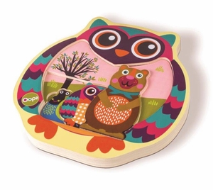 Wooden MultiLayer Puzzle - Owl