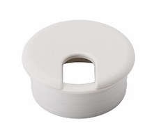 """DCI Desk Cable Bushing' White' 1-17/32""""; Pkg of 5"""