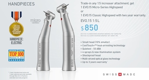 Trade-in Offer! Bien Air EVO15 Micro-Series CA 1:5L Attachment