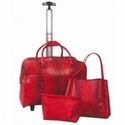 Abbacino Trolley 3 Piece Bag Set with Shoulder Tote and Zippered Pouch