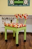 Arrow 6014 Gingerbread Trim Green Chair, Riley Blake Fabric Hexi Motif - 6011/13,14,15,16