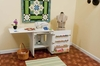"""Arrow 98501 """"Sewnatra"""" Compact and Versatile Cabinet with Airlift - White Finish"""