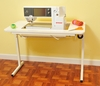"""Arrow 98611 """"Gidget lI"""" Fully Assembled Folding Sewing Table White with Wheels"""