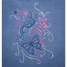Butterfly Beauty Embroidery and Crystal Combo Pack #970520