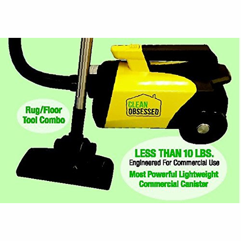 Clean Obsessed Commercial Lightweight Portable Canister Vacuum Model #CO71