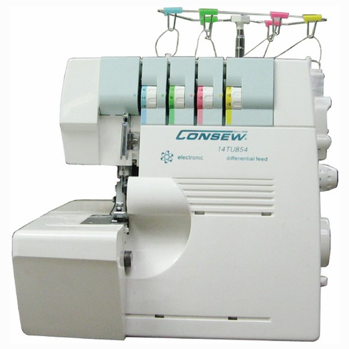 Consew 14TU854  Portable 4 Thread Overlock Serger Machine with Differential Feed