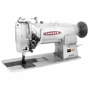 Consew Model 327RB-2<p>High Speed, Angular Stitching (Split Needle Bar), Double Needle, Drop Feed, Needle Feed, Lockstich Sewing  Machine</p><p> With: Large Shuttle Hook and Bobbin, Walking Feet </p>