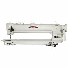 "Consew Model 333RBL-25<p> 25"" Long Arm, High Speed, Two Needle, Drop Feed, Needle Feed, Lockstitch Sewing  Machine</p><p> With:  Centra-Lube� Semi-Automatic Lubrication System, Large Vertical Axis Hooks and Bobbins, Reverse Feed, Safety Clutch </p>COMPLETE With: Table, Motor and Stand"