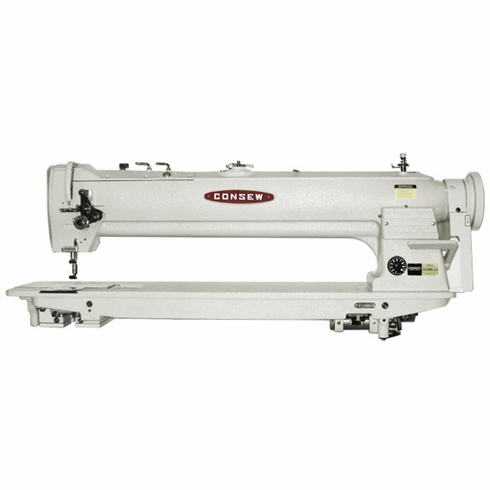 "Consew Model 333RBL-25<p> 25"" Long Arm, High Speed, Two Needle, Drop Feed, Needle Feed, Lockstitch Sewing  Machine</p><p> With:  Centra-Lube® Semi-Automatic Lubrication System, Large Vertical Axis Hooks and Bobbins, Reverse Feed, Safety Clutch </p>COMPLETE With: Table, Motor and Stand"