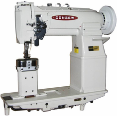 Consew Model 369RB-2 <p>Heavy Duty, High Speed, Post Type, Double Needle, Angular Stitch (Split Needle Bar), Compound Feed, Walking Foot, Lockstitch Industrial Sewing Machine</p><p> With: Large Shuttle Hook and Bobbin, Walking Feet </p>