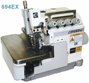 Consew Model 694EX<p>High Speed Overlock Machine: 2/3/4 Threads</p><p>With: Fully Automatic Lubrication, Differential Feed With Micrometric Adjustment, Push button Stitch Regulator</p>