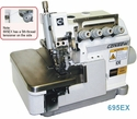 Consew Model 695EX<p>High Speed Overlock Machine: 2 Needles,  4 / 5 Threads</p><p>With: Fully Automatic Lubrication, Differential Feed With Micrometric Adjustment, Pushbutton Stitch Regulator</p>