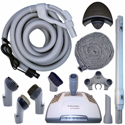 Electrolux CS3000 Quiet Clean Central Vacuum Accessory Kit <p>With  30' Direct Connect Hose Kit With Power Head and Padded Sock</p>