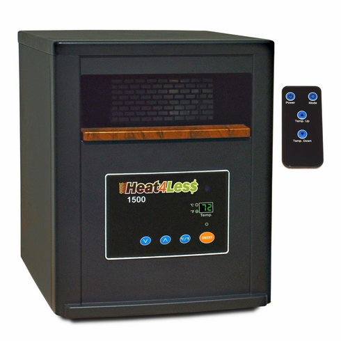Heat4Less 1500: Portable 1500 Watt Infrared Heater - Heats up to 2000sq ft*