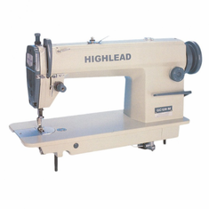 Highlead GC128-M High Speed Single Needle Lockstitch Sewing Machine with Table and <b>SERVO</b> Motor