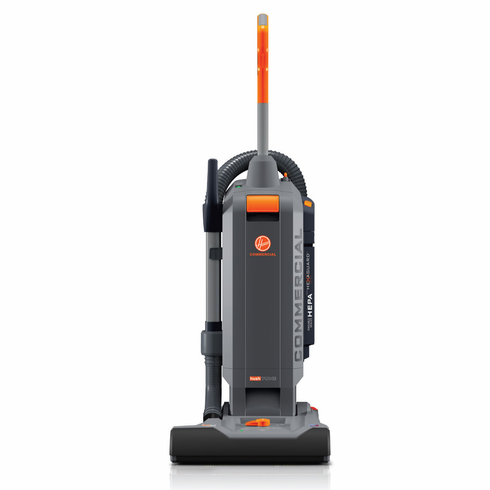 "Hoover Commercial HushTone 15""+ Hard-Bagged Upright Vacuum Cleaner with Intellibelt"