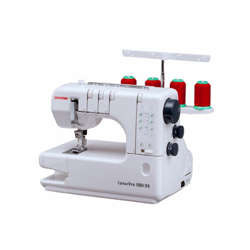 Janome 1000CPX Freearm  Cover Hem & Chain Stitch Machine<p><b><i><font color=red>INCLUDES 2 Year Extended Warranty PLUS BONUS KIT:   Narrow Elastic Gathering Foot + Wide Gathering Attachment + 2 Packs Assorted Needles</font></b></p>