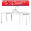 """Janome Artistic Quilter Forward Facing SD  18 """" Long-Arm Sit Down Quilter- AQFFSD  <p><b><i><font color=RED><i>JANOME SUMMER SALE GOING ON NOW!</font></b></i></p>"""