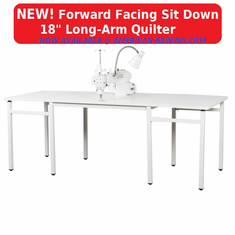 "Janome Artistic Quilter Forward Facing SD  18 "" Long-Arm Sit Down Quilter- AQFFSD  <p><b><i><font color=RED><i>JANOME SUMMER SALE GOING ON NOW!</font></b></i></p>"