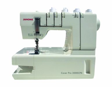 NEW Janome CoverPro 2000CPX  - CALL TODAY FOR OUR SPECIAL INTRODUCTORY OFFER! Don't Miss Out on this Deal, Call For Details 800-522-8938